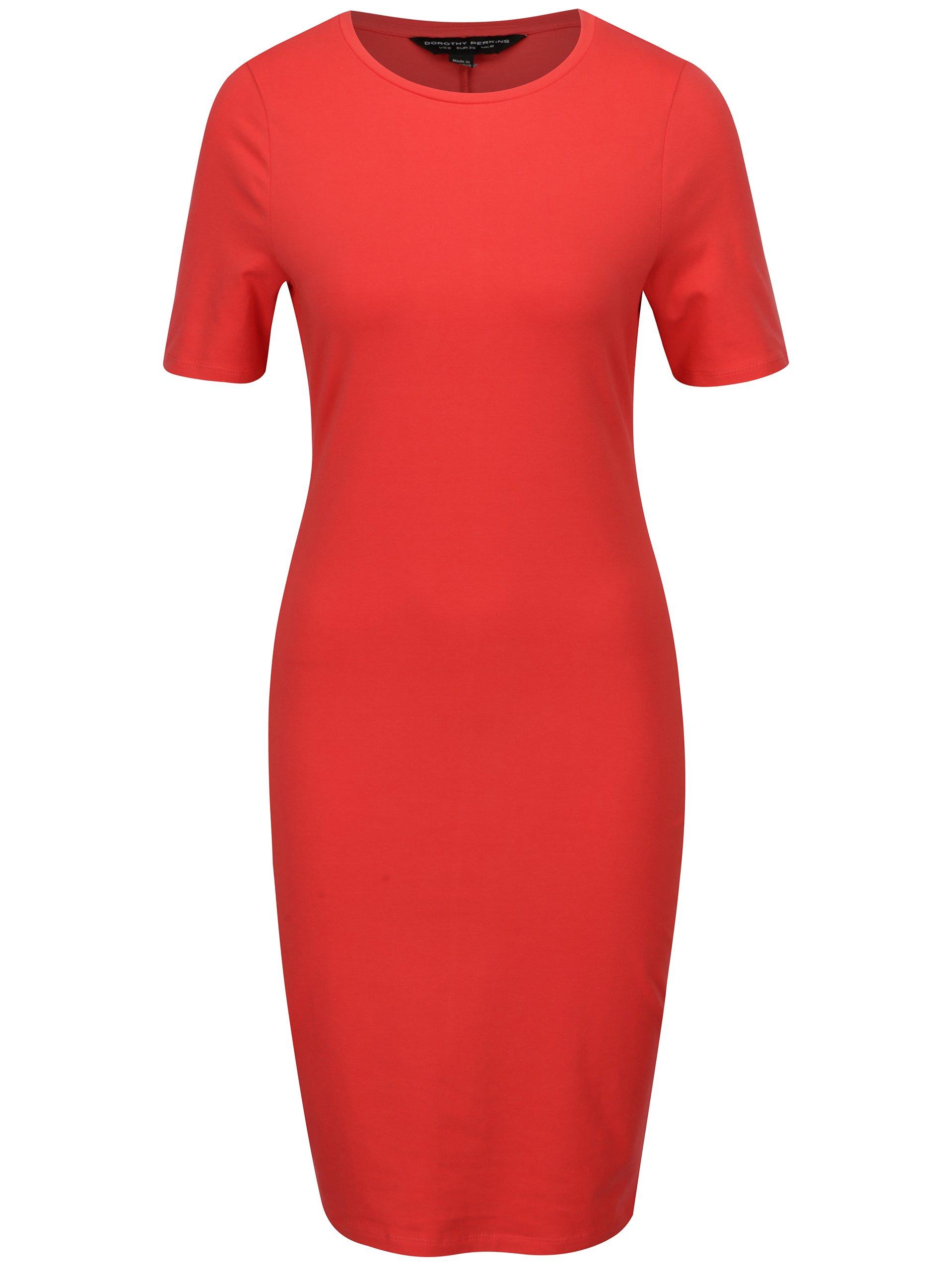 821efb23b093 Červené puzdrové šaty Dorothy Perkins