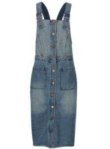 Modré rifľové šaty na traky Noisy May jenny