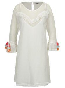 Krémové sieťované šaty so strapcami na rukávoch Noisy May Laura f0d45d1e3be