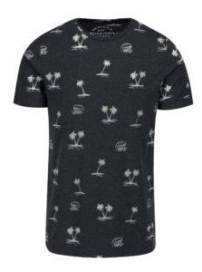 Tmavomodré vzorované tričko Jack & Jones Premium Jorseal Tee