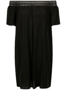 Čierne šaty so spadnutými ramenami Jacqueline de Yong Fame