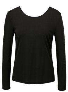 Čierne tričko s výstrihom na chrbte VILA Nelius
