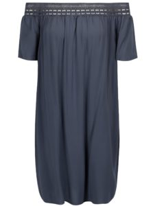 Modré šaty so spadnutými ramenami Jacqueline de Yong Fame