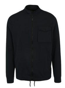 Tmavomodrá mikina na zips Burton Menswear London
