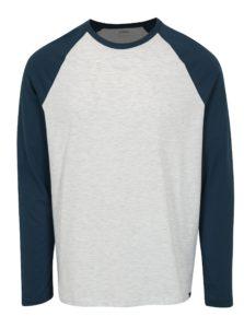 Sivo-modré melírované regular fit tričko Burton Menswear London