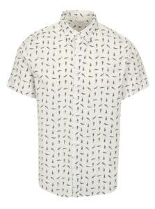 Biela vzorovaná košeľa s krátkym rukávom Burton Menswear London