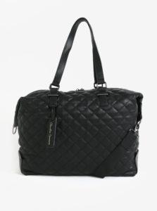 Čierna prešívaná cestovná taška Claudia Canova Anya