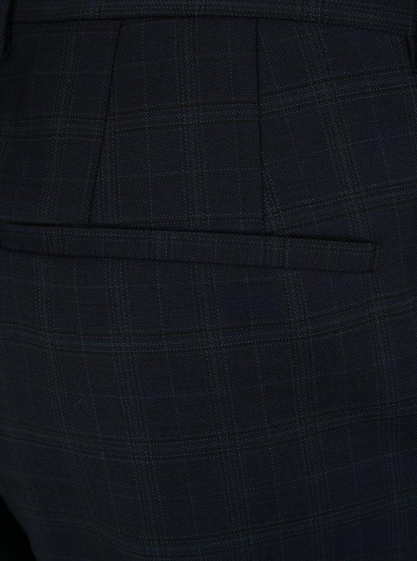Tmavomodré vlnené oblekové nohavice Selected Homme Done Buffalo