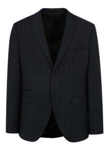 Tmavomodré oblekové sako s jemným vzorom Selected Homme Done Buffalo