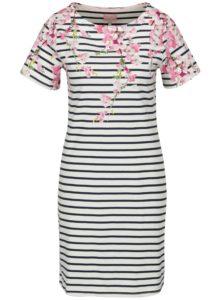Krémové pruhované šaty s kvetovaným vzorom Tom Joule Riviera Print