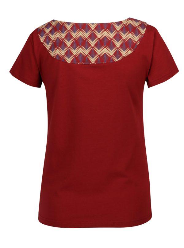 Červené tričko so vzorovanou potlačou Tranquillo Loreley