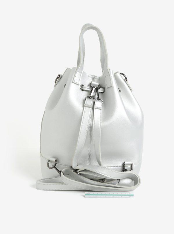 Batoh/vaková kabelka v striebornej farbe Claudia Canova Gaya