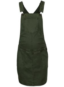 Tmavozelená tehotenská sukňa s trakmi Mama.licious Zeal