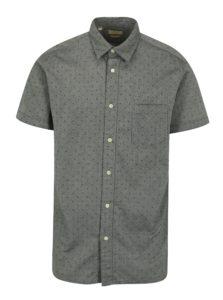 Sivá vzorovaná slim fit košeľa Selected Homme Fabian