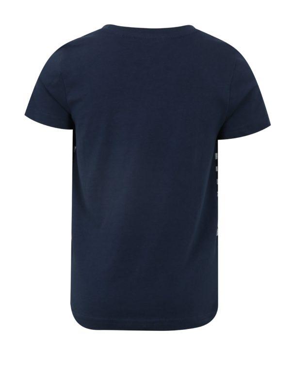 Tmavomodré chlapčenské tričko s potlačou Blue Seven
