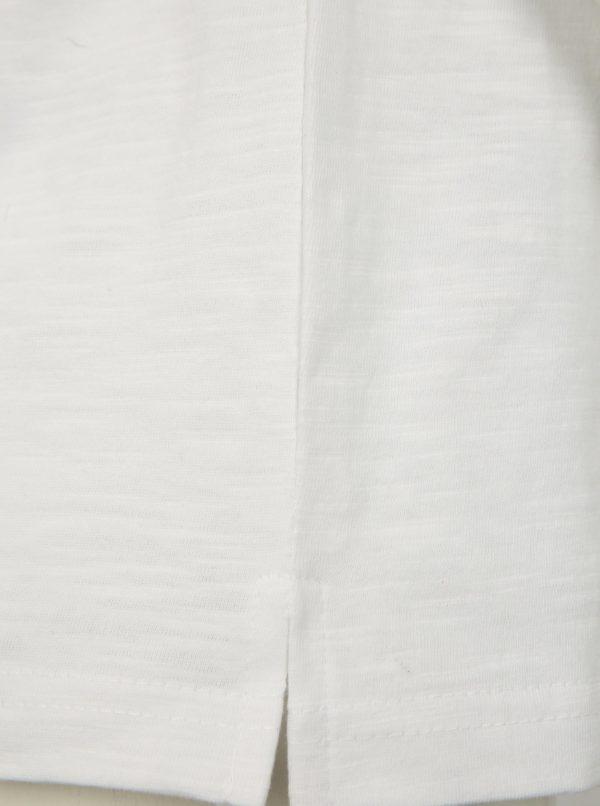 Biele chlapčenské tričko s potlačou Blue Seven