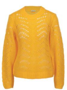 Žltý vzorovaný sveter Noisy May Tabby