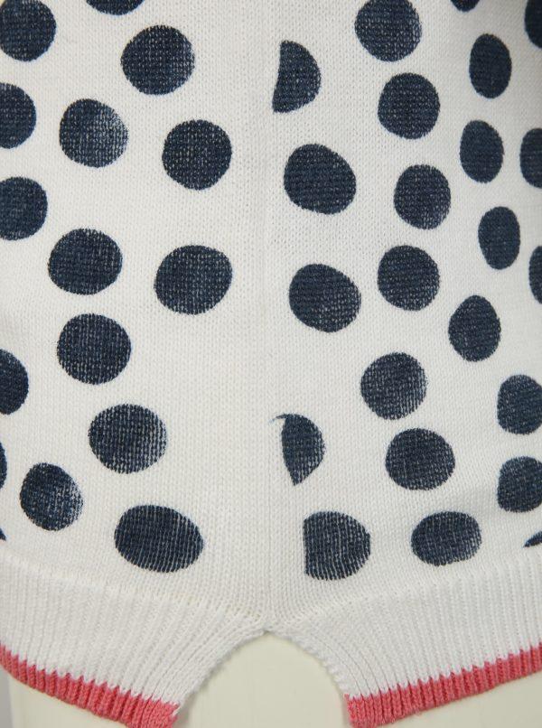 Biely dievčenský bodkovaný sveter Blue Seven