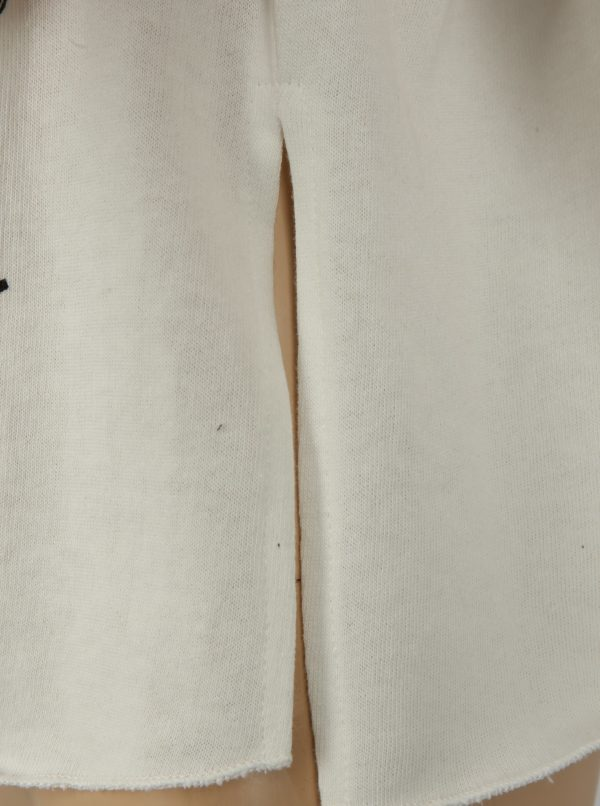 Krémová dievčenská krátka mikina s prestrihmi na ramenách Blue Seven