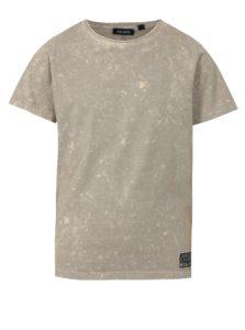 Béžové chlapčenské melírované tričko s potlačou na chrbte Blue Seven