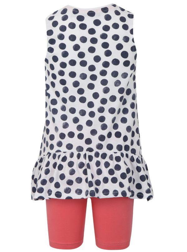 Bielo-ružová dievčenská súprava tielka a kraťasov Blue Seven