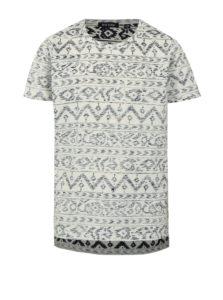 Modro-krémové chlapčenské vzorované tričko Blue Seven