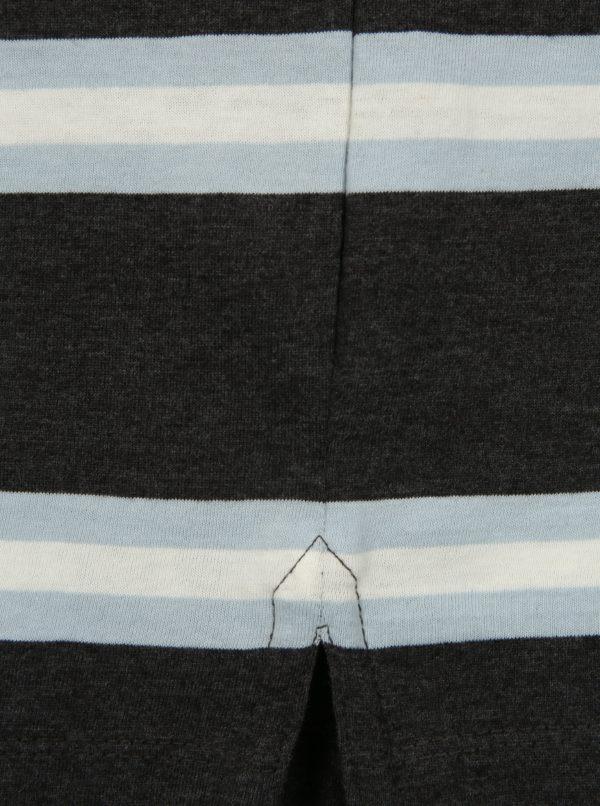 Modro-sivá pruhovaná regular fit polokošeľa Blend
