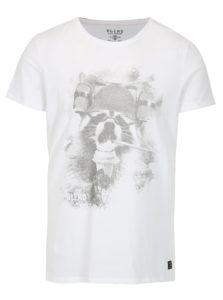 Biele slim fit tričko s potlačou Blend