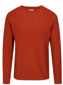Tehlový rebrovaný slim fit sveter Blend