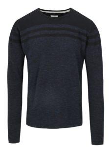Tmavomodrý tenký slim fit sveter Blend