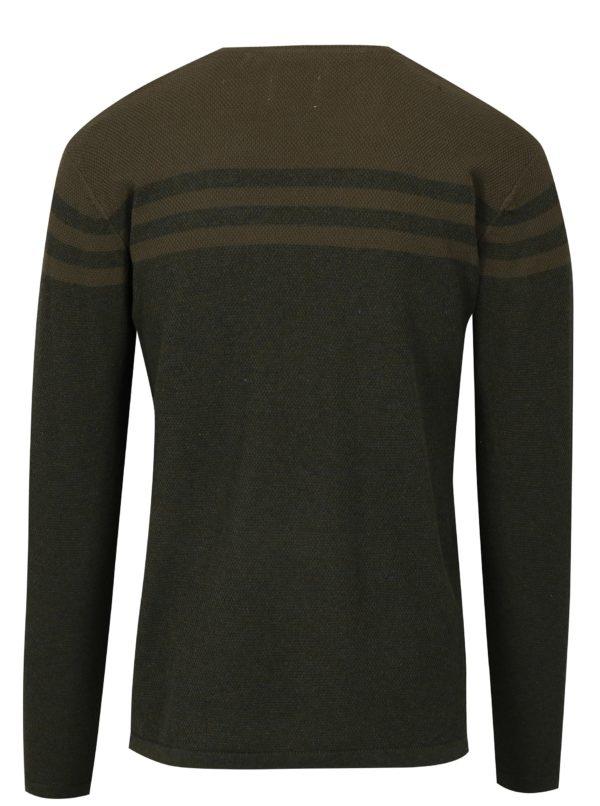 Tmavozelený tenký slim fit sveter Blend