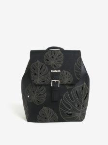 Čierny vzorovaný perforovaný batoh Desigual Attalea Toronto