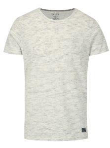 Krémové melírované slim fit tričko s náprsným vreckom Blend