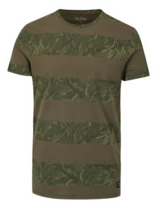 Tmavozelené slim fit tričko s potlačou Blend