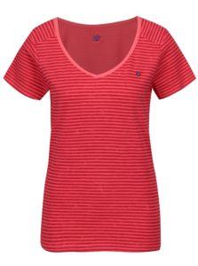 Ružové dámske pruhované tričko LOAP Bernice