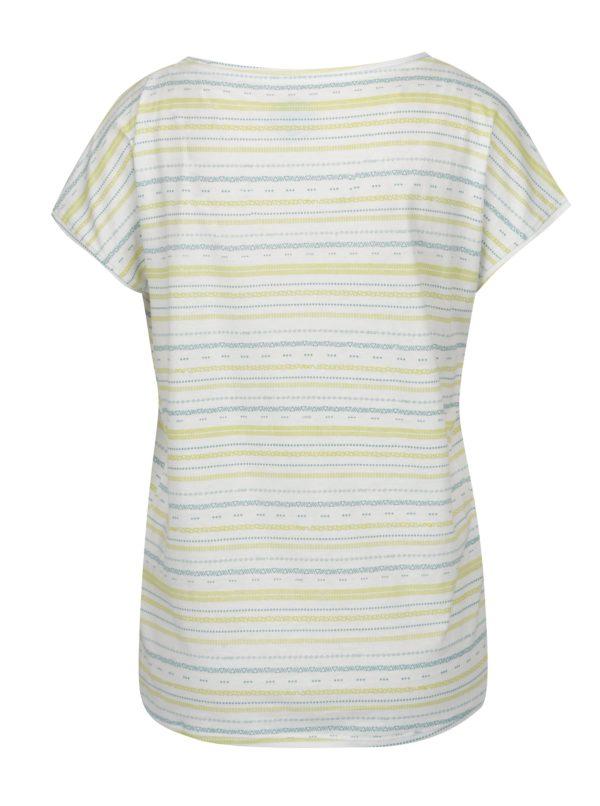 Biele dámske vzorované tričko LOAP Alia