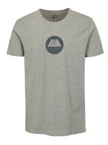 Sivé pánske melírované tričko LOAP Buky
