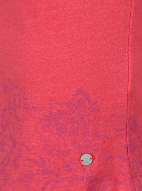 519773831 Ružové dámske tričko s okrúhlym výstrihom a potlačou LOAP Balisey ...