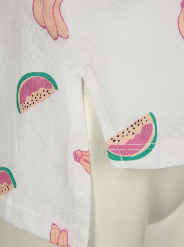 Biele dievčenské tričko s potlačou name it Via