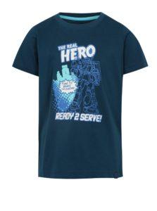 Tmavomodré chlapčenské tričko s potlačou LOAP Idealo