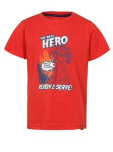 Červené chlapčenské tričko s potlačou LOAP Idealo