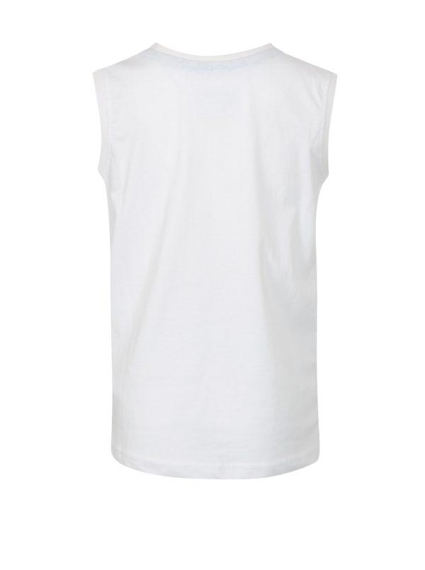 Biele chlapčenské tričko bez rukávov LOAP Isar