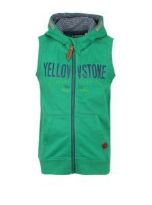 Zelená chlapčenská mikinová vesta s kapucňou LOAP Hytek