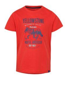 Červené detské tričko s potlačou LOAP Ibby