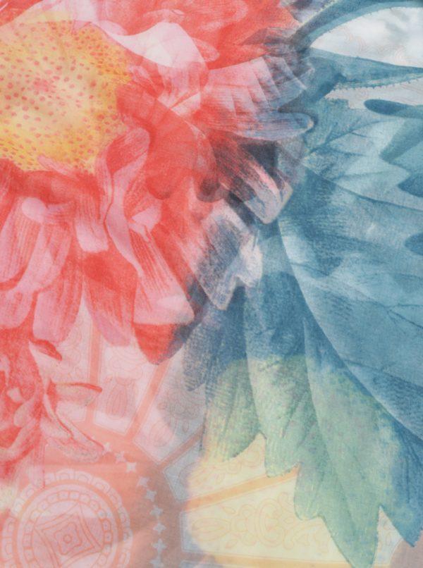 Tyrkysovo-ružová šatka Desigual New Valkiria