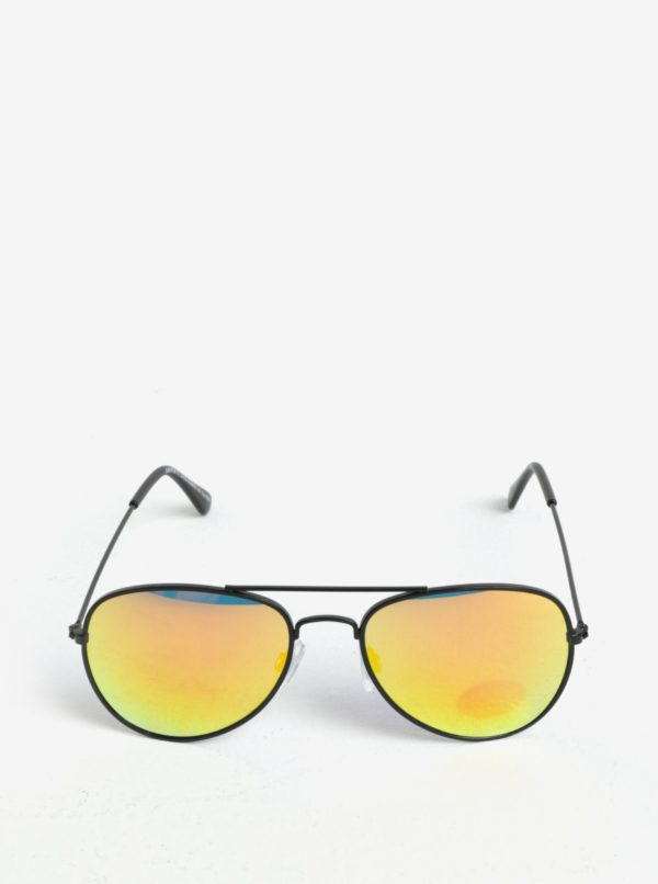 Oranžovo-čierne detské slnečné okuliare name it Sun