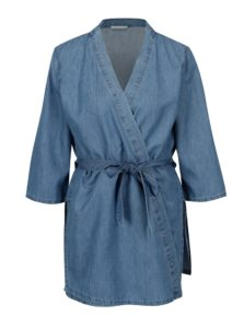 Modré rifľové kimono s opaskom VILA Liama