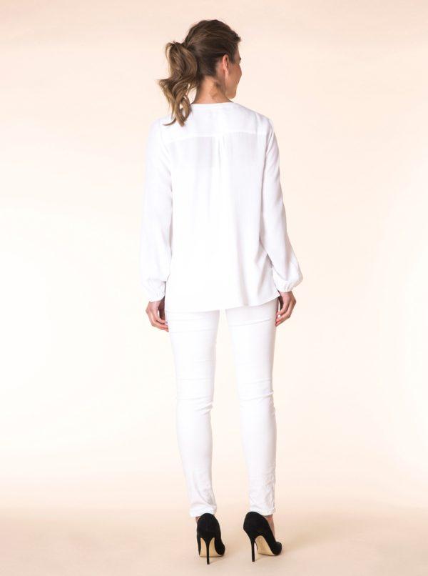 Biela blúzka s dlhým rukávom Yest