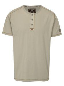 Béžové pánske tričko BUSHMAN Caredo