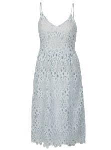 Svetlomodré čipkované šaty na ramienka VILA Dalton